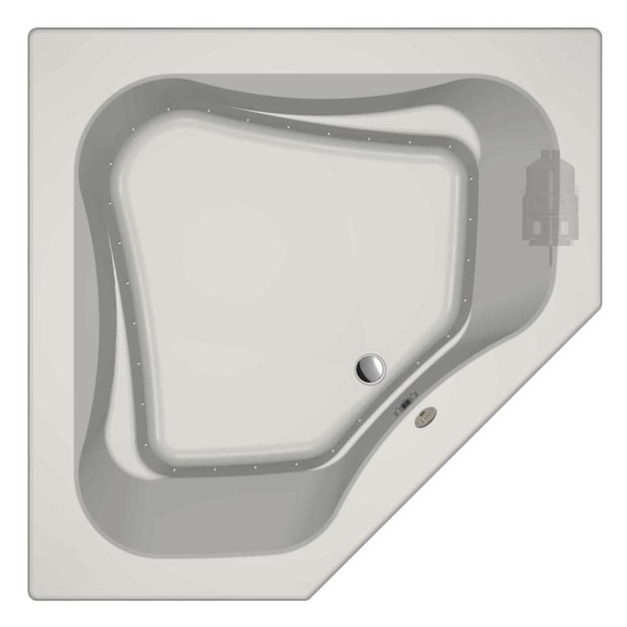 Jacuzzi Primo 60-in L x 60-in W x 21-in H White Acrylic 2-Person Corner Drop-in Air Bath