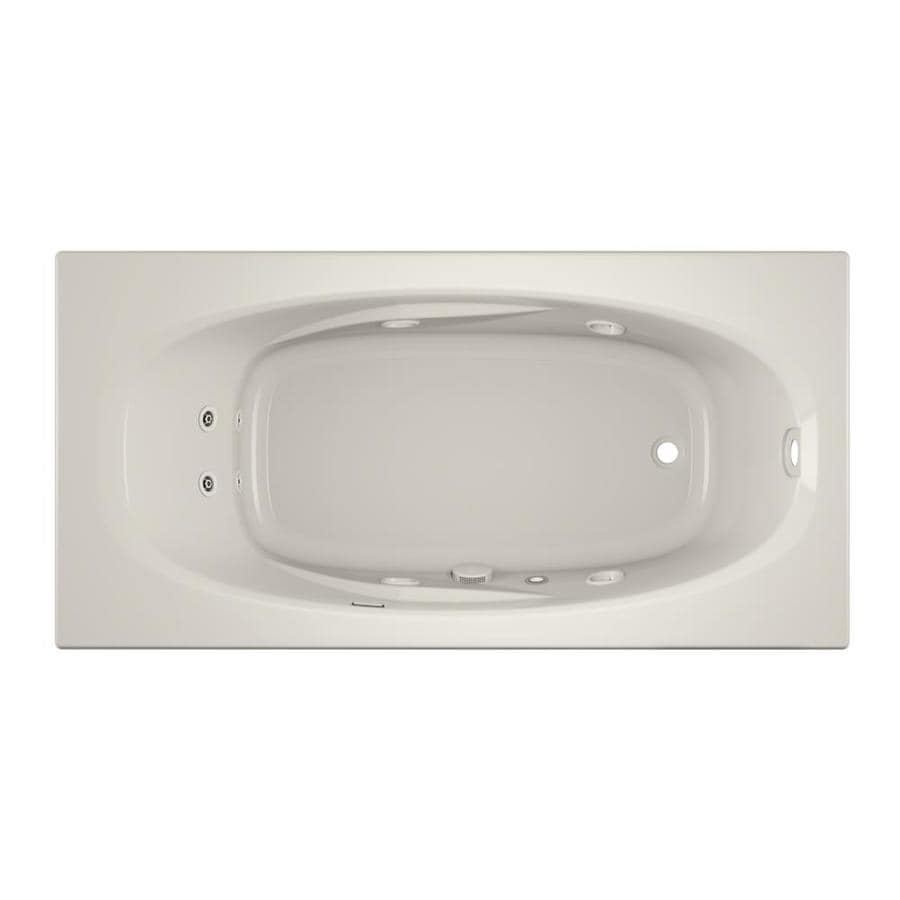 Jacuzzi Amiga 72-in Oyster Acrylic Drop-In Whirlpool Tub with Right-Hand Drain