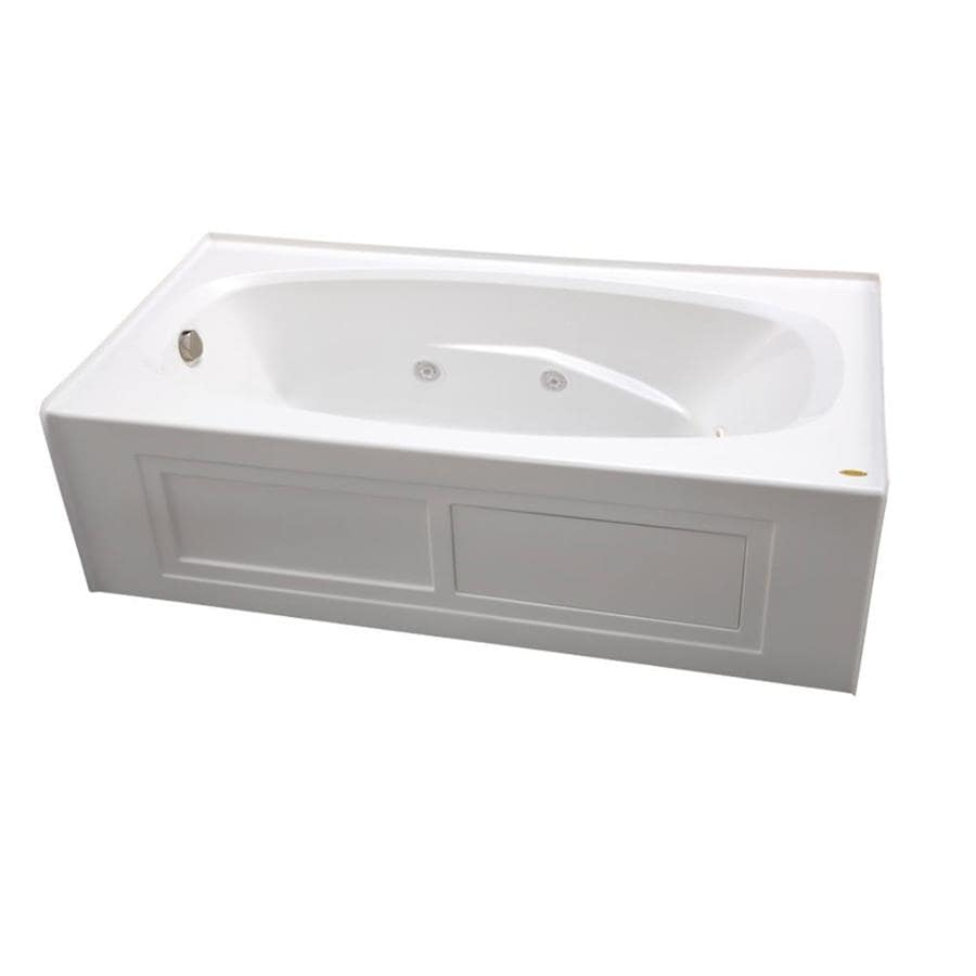 Jacuzzi Amiga 72-in White Acrylic Alcove Whirlpool Tub with Left-Hand Drain