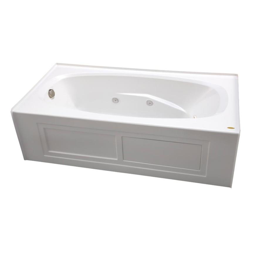 Jacuzzi Amiga 72-in White Acrylic Alcove Whirlpool Tub with Right-Hand Drain