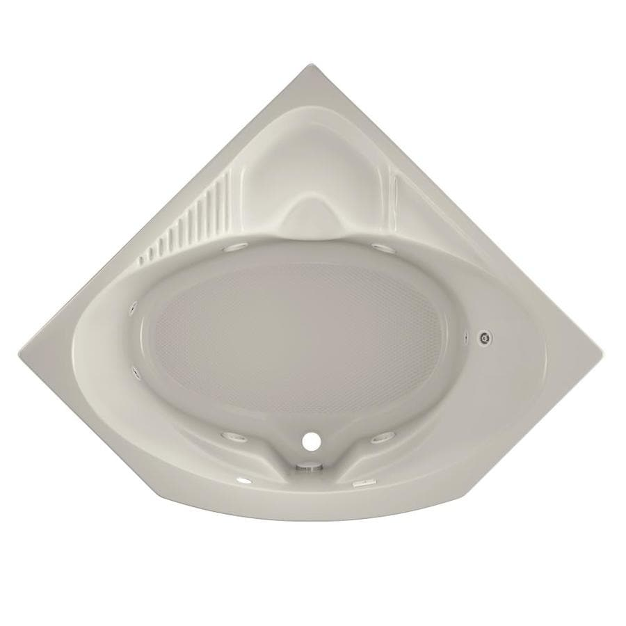 Jacuzzi Capella 55-in Oyster Acrylic Drop-In Whirlpool Tub with Center Drain