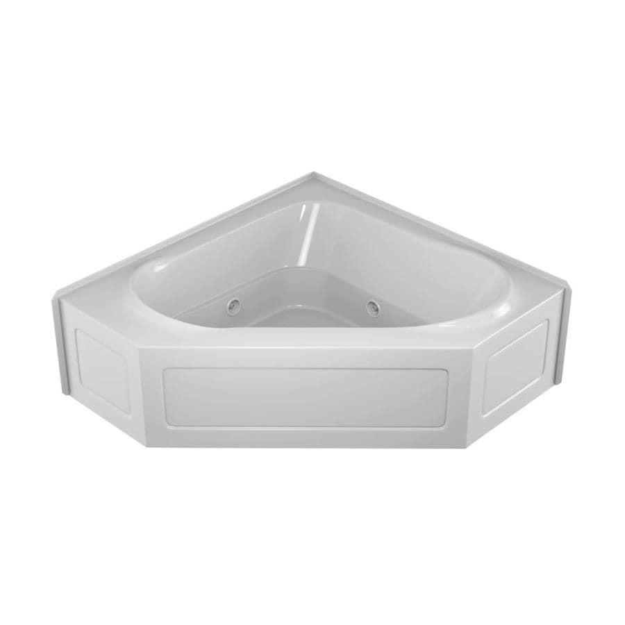 Shop Jacuzzi Capella 2-Person White Acrylic Corner Whirlpool Tub ...
