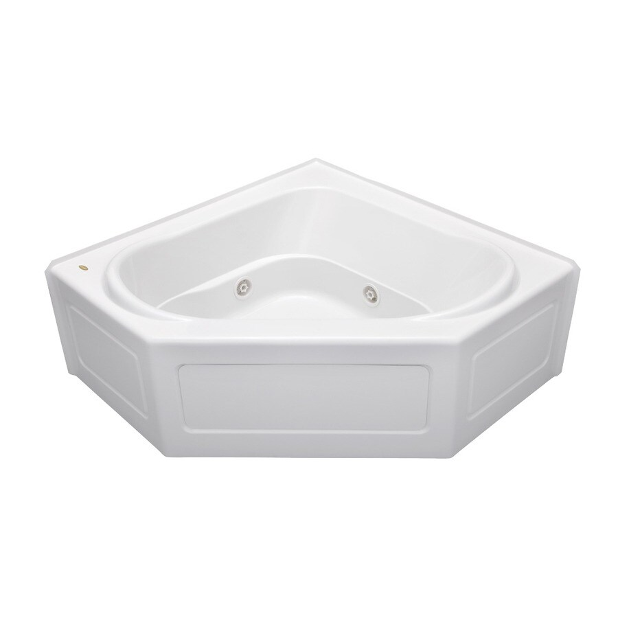 Shop Jacuzzi Capella 55-in White Acrylic Alcove Whirlpool Tub with ...