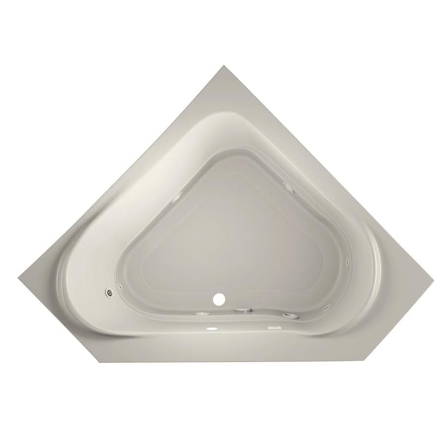 Jacuzzi Capella 60-in Oyster Acrylic Drop-In Whirlpool Tub with Center Drain