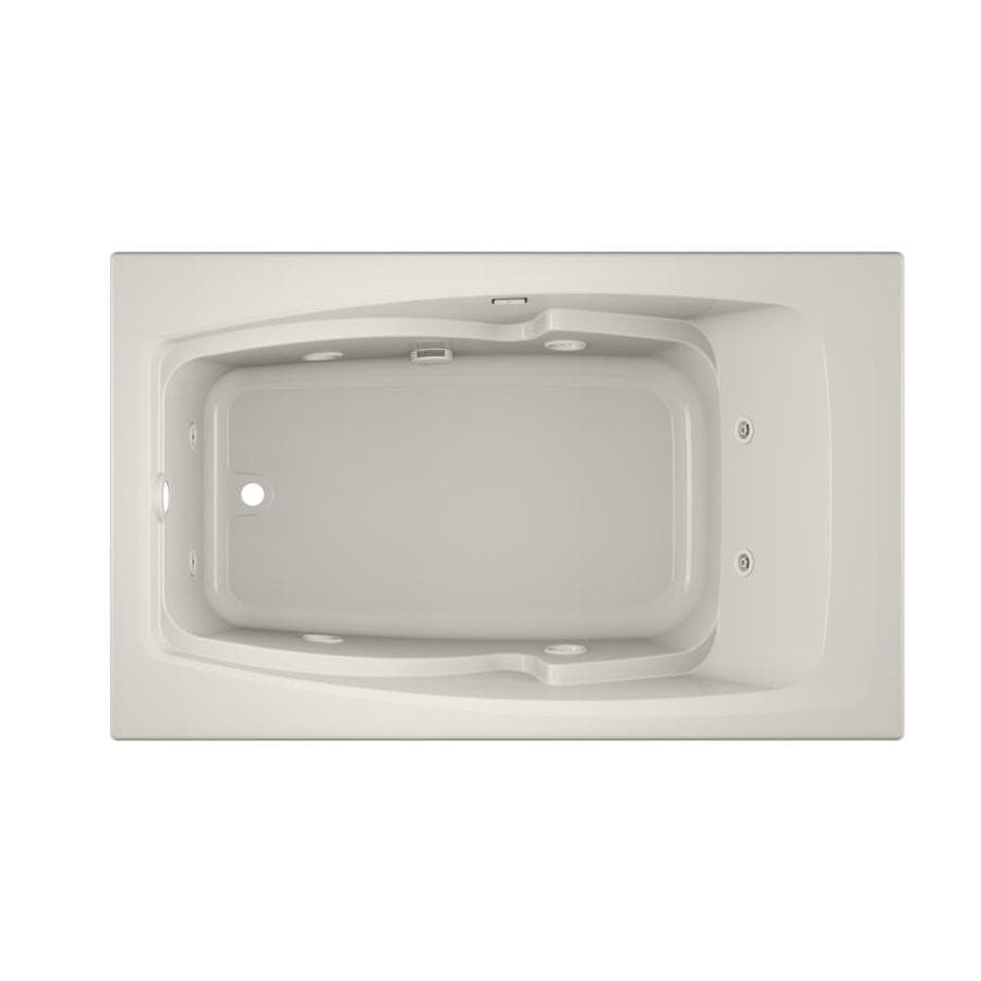 Jacuzzi Cetra 60 In Oyster Acrylic Rectangular Left Hand