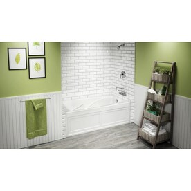 Jacuzzi Cetra 36 In W X 60 In L White Acrylic Rectangular Left Hand Drain Alcove Whirlpool Tub In The Bathtubs Department At Lowes Com