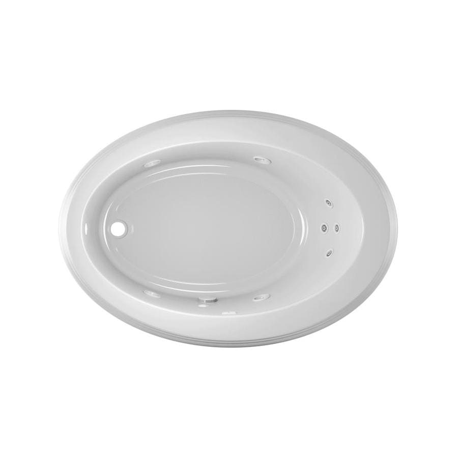 Jacuzzi Gallery 62-in White Acrylic Drop-In Whirlpool Tub with Left-Hand Drain