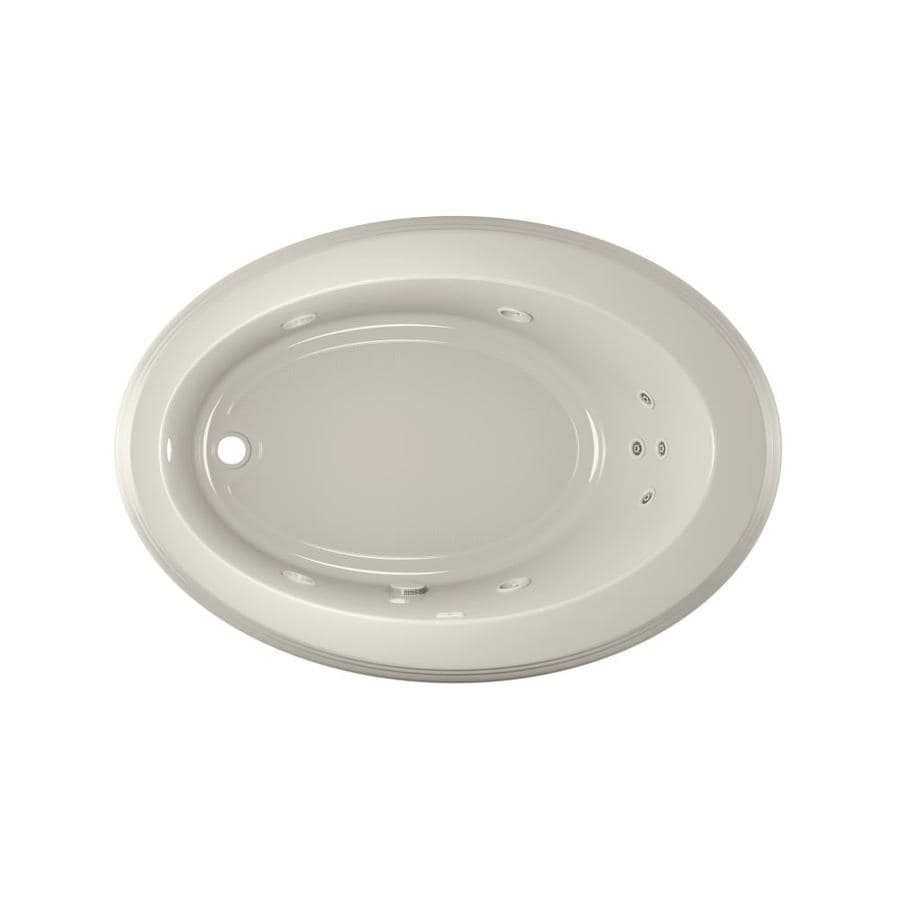 Jacuzzi Gallery 62-in Oyster Acrylic Drop-In Whirlpool Tub with Left-Hand Drain