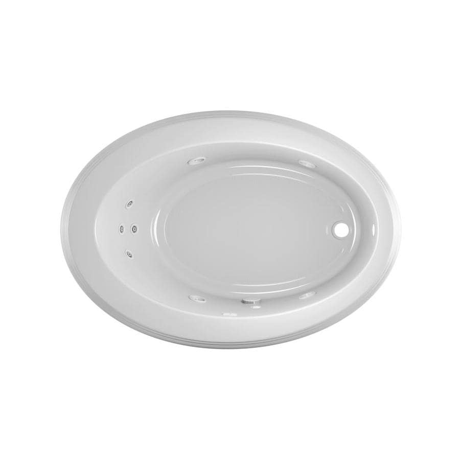 Jacuzzi Gallery White Acrylic Oval Whirlpool Tub (Common: 43-in x 62-in; Actual: 19-in x 43-in x 62-in)