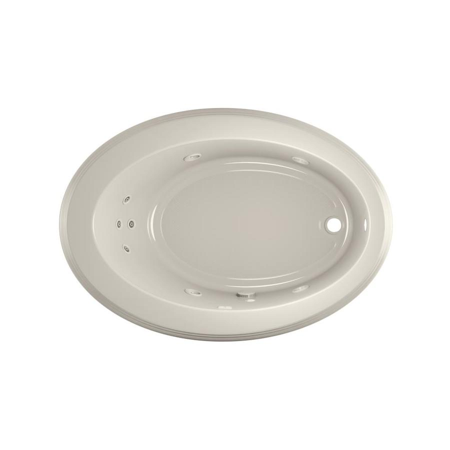 Jacuzzi Gallery Oyster Acrylic Oval Whirlpool Tub (Common: 43-in x 62-in; Actual: 19-in x 43-in x 62-in)