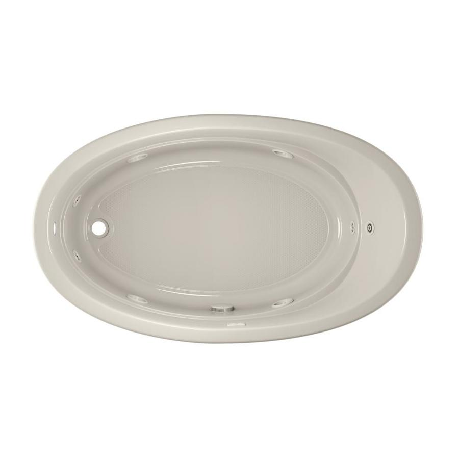 Jacuzzi Gallery 72-in Oyster Acrylic Drop-In Whirlpool Tub with Left-Hand Drain