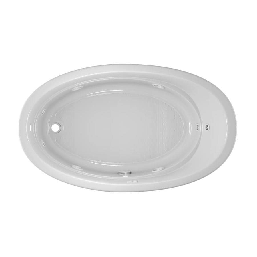 Jacuzzi Gallery White Acrylic Oval Whirlpool Tub (Common: 42-in x 72-in; Actual: 20.5-in x 42-in x 72-in)