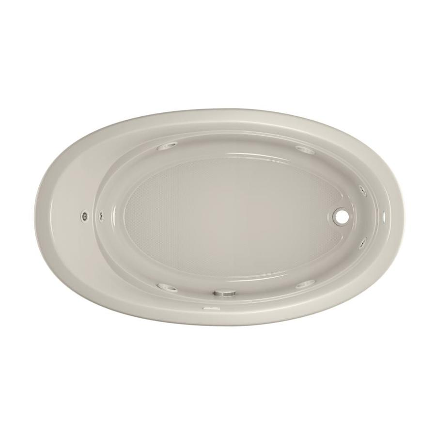 Jacuzzi Gallery 72-in Oyster Acrylic Drop-In Whirlpool Tub with Right-Hand Drain