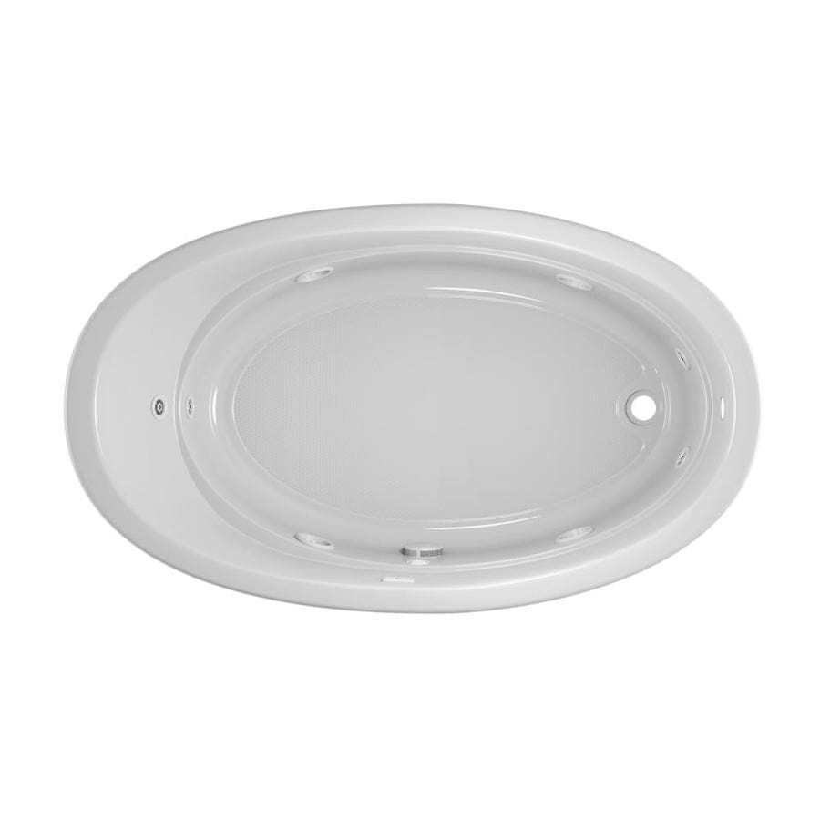 Jacuzzi Gallery 72-in White Acrylic Drop-In Whirlpool Tub with Right-Hand Drain