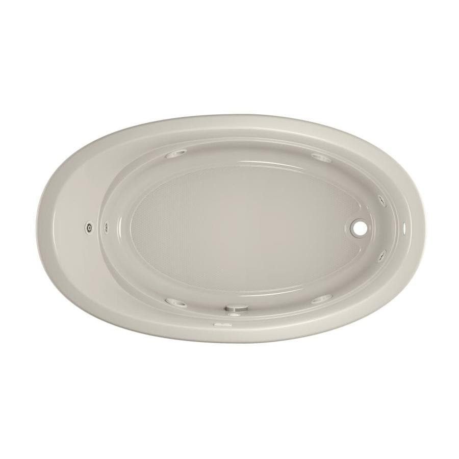 Jacuzzi Gallery Oyster Acrylic Oval Whirlpool Tub (Common: 42-in x 72-in; Actual: 20.5-in x 42-in x 72-in)