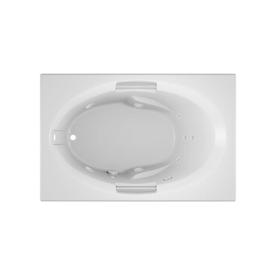 Jacuzzi Nova 60-in White Acrylic Drop-In Whirlpool Tub with Left-Hand Drain