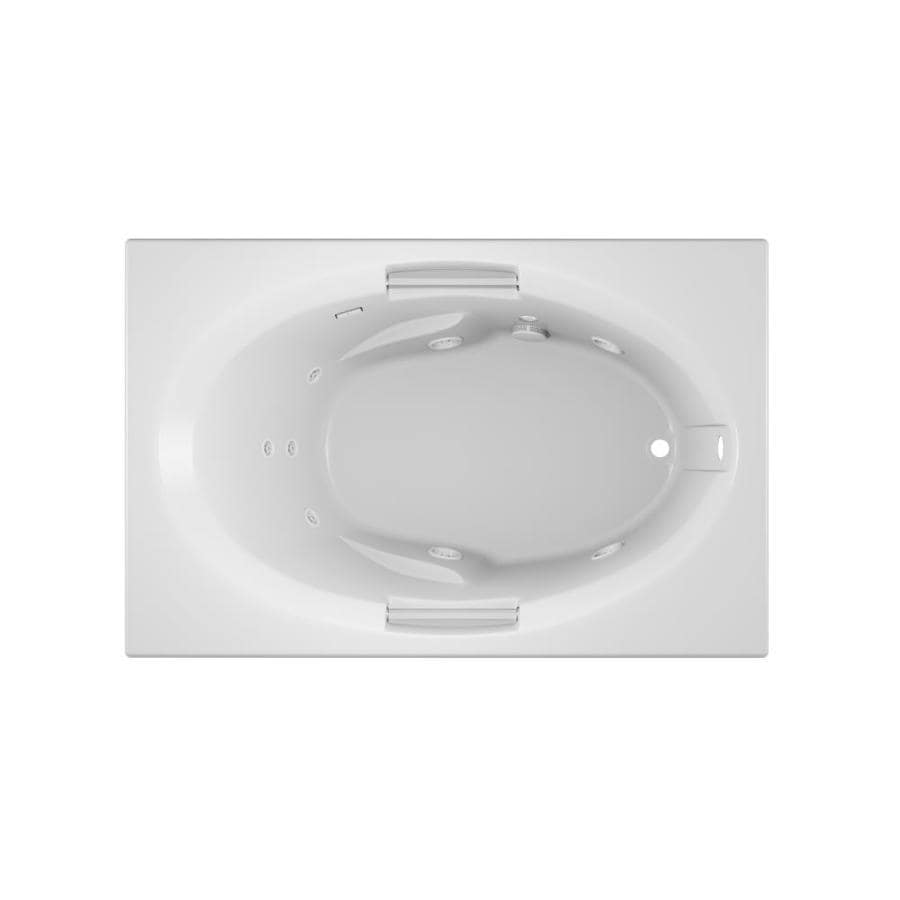 Jacuzzi Nova 60-in White Acrylic Drop-In Whirlpool Tub with Right-Hand Drain