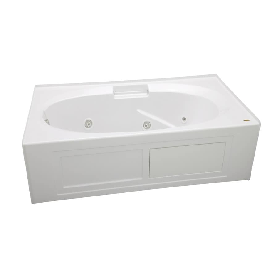 Shop Jacuzzi Nova White Acrylic Oval In Rectangle Whirlpool Tub Common 36 I