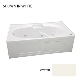 Jacuzzi Nova 60-in Oyster Acrylic Rectangular Center Drain Alcove Whirlpool Tub