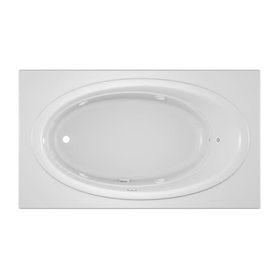 Jacuzzi Nova 72-in White Acrylic Drop-In Whirlpool Tub with Left-Hand Drain