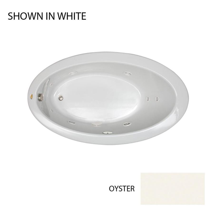Jacuzzi Riva 66.25-in Oyster Acrylic Drop-In Whirlpool Tub with Left-Hand Drain
