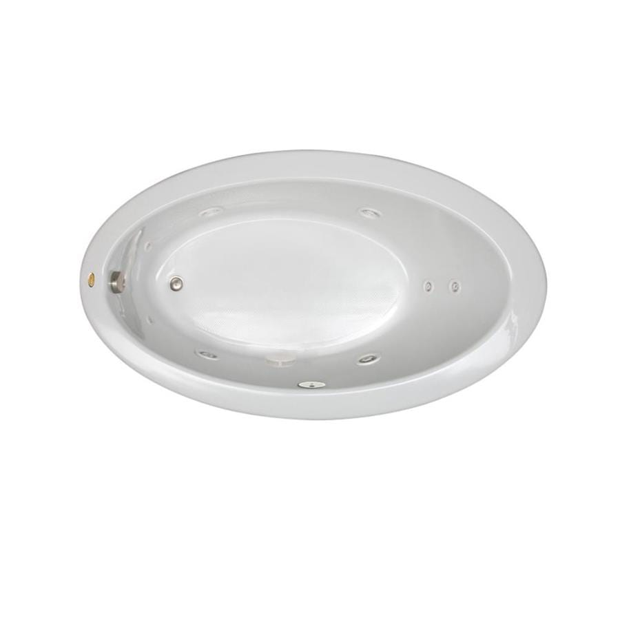 Jacuzzi Riva White Acrylic Oval Whirlpool Tub (Common: 38-in x 66-in; Actual: 38.25-in x 38.25-in x 66.25-in)