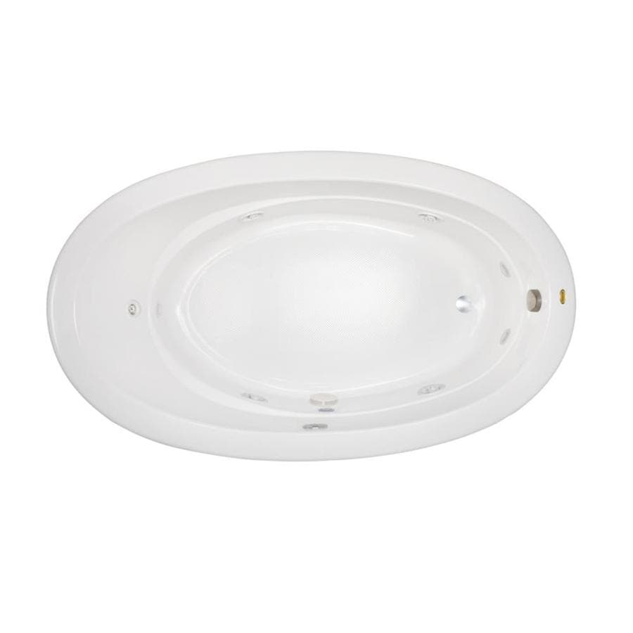 Jacuzzi Riva White Acrylic Oval Whirlpool Tub (Common: 42-in x 72-in; Actual: 20.5-in x 42-in x 72-in)