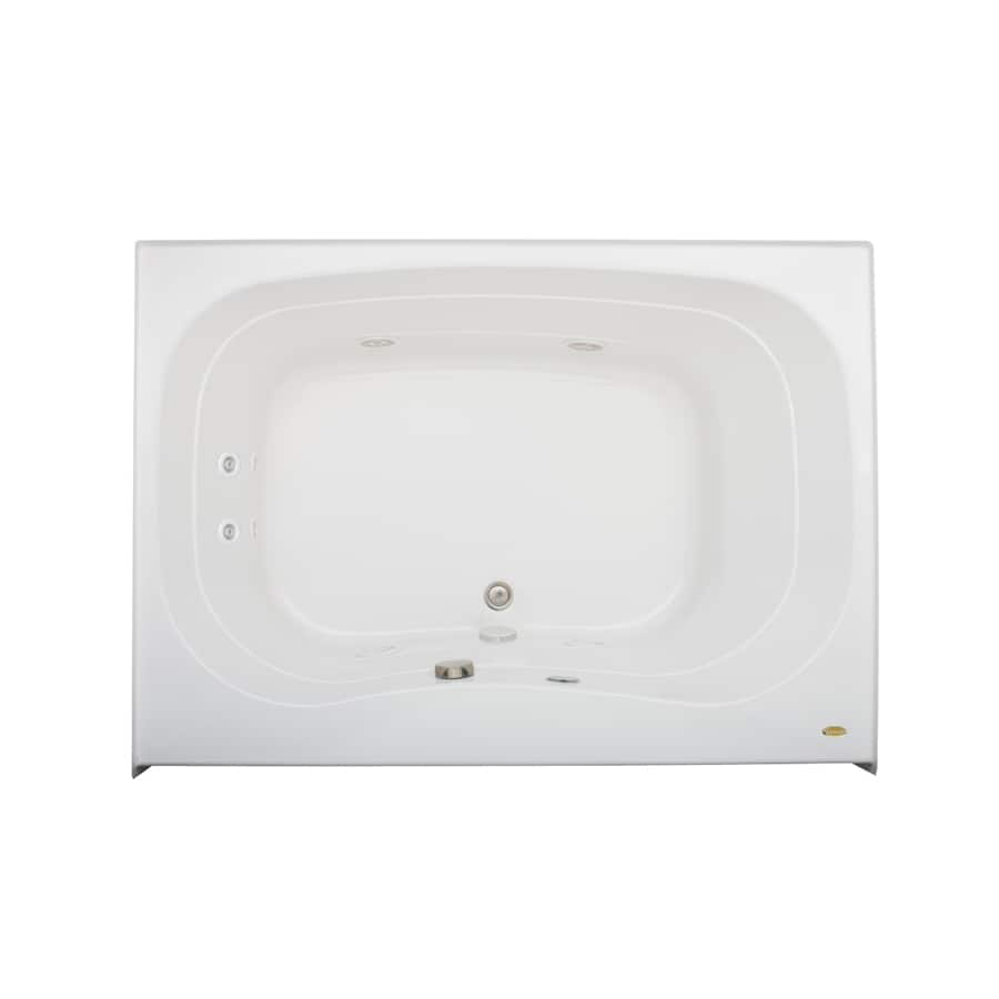 Jacuzzi Signa White Acrylic Rectangular Whirlpool Tub (Common: 42-in x 60-in; Actual: 22-in x 42-in x 60-in)