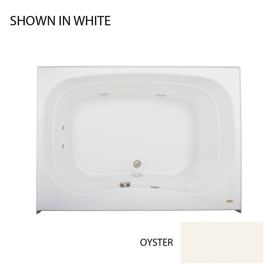 Jacuzzi Signa 60-in Oyster Acrylic Drop-In Whirlpool Tub with Center Drain