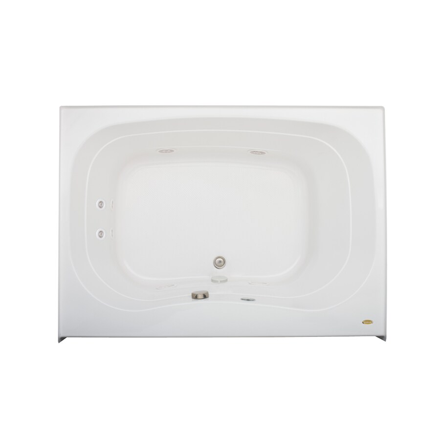 Jacuzzi Signa 60-in White Acrylic Drop-In Whirlpool Tub with Center Drain