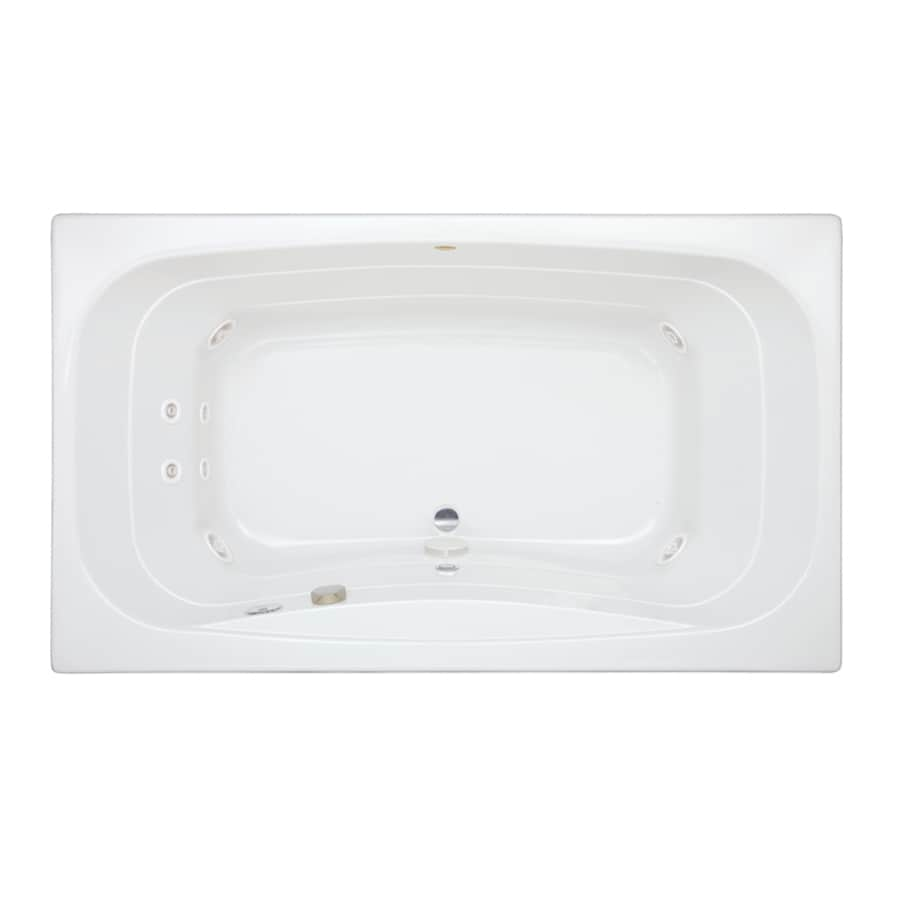 Jacuzzi Signa 2-Person White Acrylic Rectangular Whirlpool Tub (Common: 42-in x 72-in; Actual: 22-in x 42-in x 72-in)