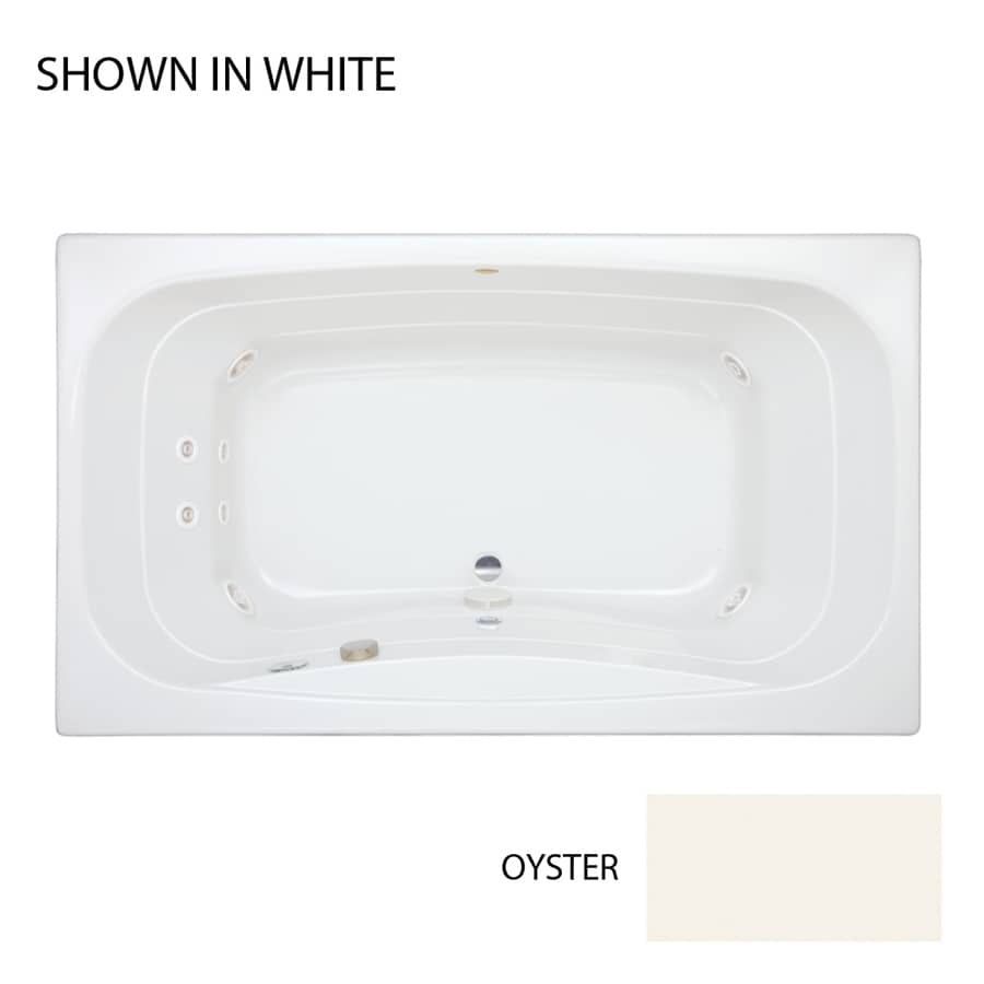 Jacuzzi Signa 2-Person Oyster Acrylic Rectangular Whirlpool Tub (Common: 42-in x 72-in; Actual: 22-in x 42-in x 72-in)