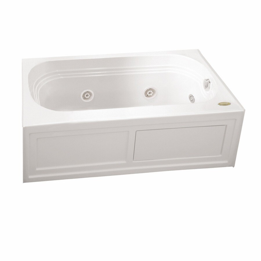 Jacuzzi Luxura 60-in White Acrylic Alcove Whirlpool Tub with Left-Hand Drain
