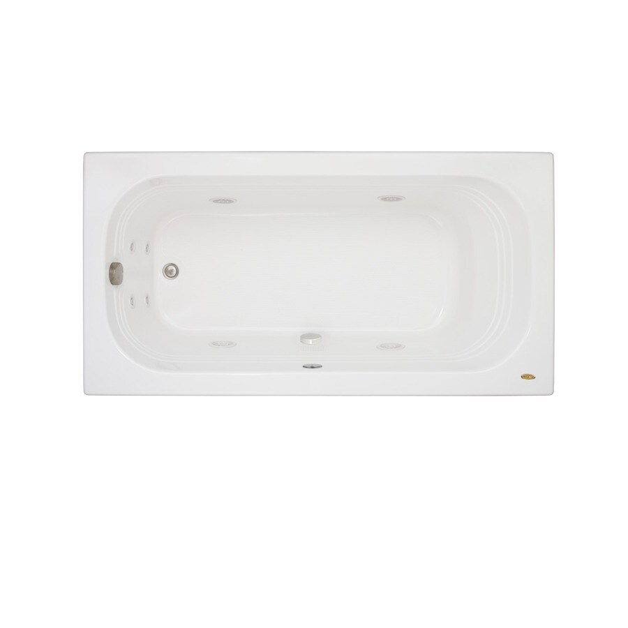 Jacuzzi Luxura 60-in White Acrylic Alcove Whirlpool Tub with Right-Hand Drain