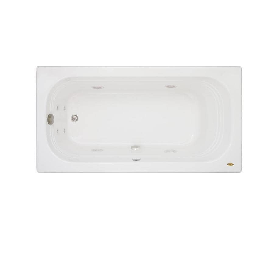 Jacuzzi Luxura White Acrylic Rectangular Whirlpool Tub (Common: 34-in x 66-in; Actual: 20-in x 34-in x 66-in)