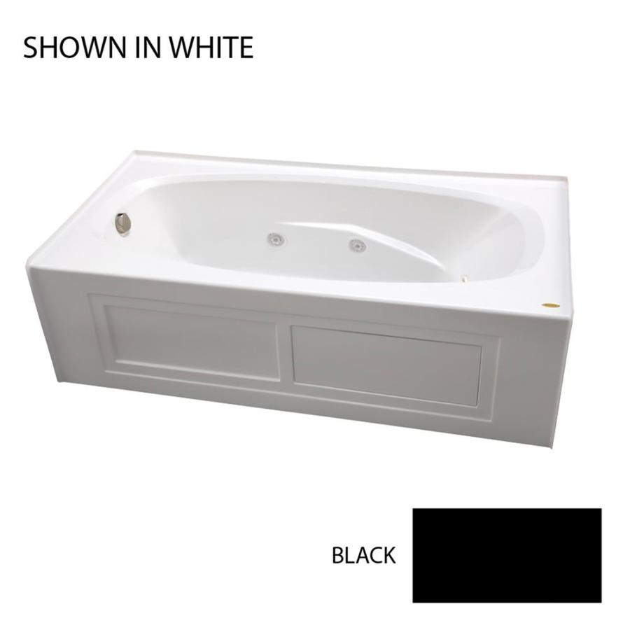 Jacuzzi Amiga 72-in Black Acrylic Alcove Whirlpool Tub with Left-Hand Drain