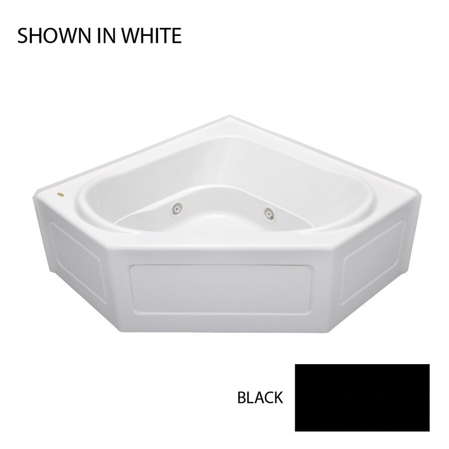Jacuzzi Capella 55-in Black Acrylic Alcove Whirlpool Tub with Center Drain
