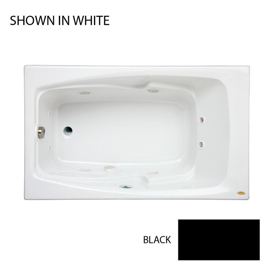Jacuzzi Cetra 60-in Black Acrylic Drop-In Whirlpool Tub with Left-Hand Drain
