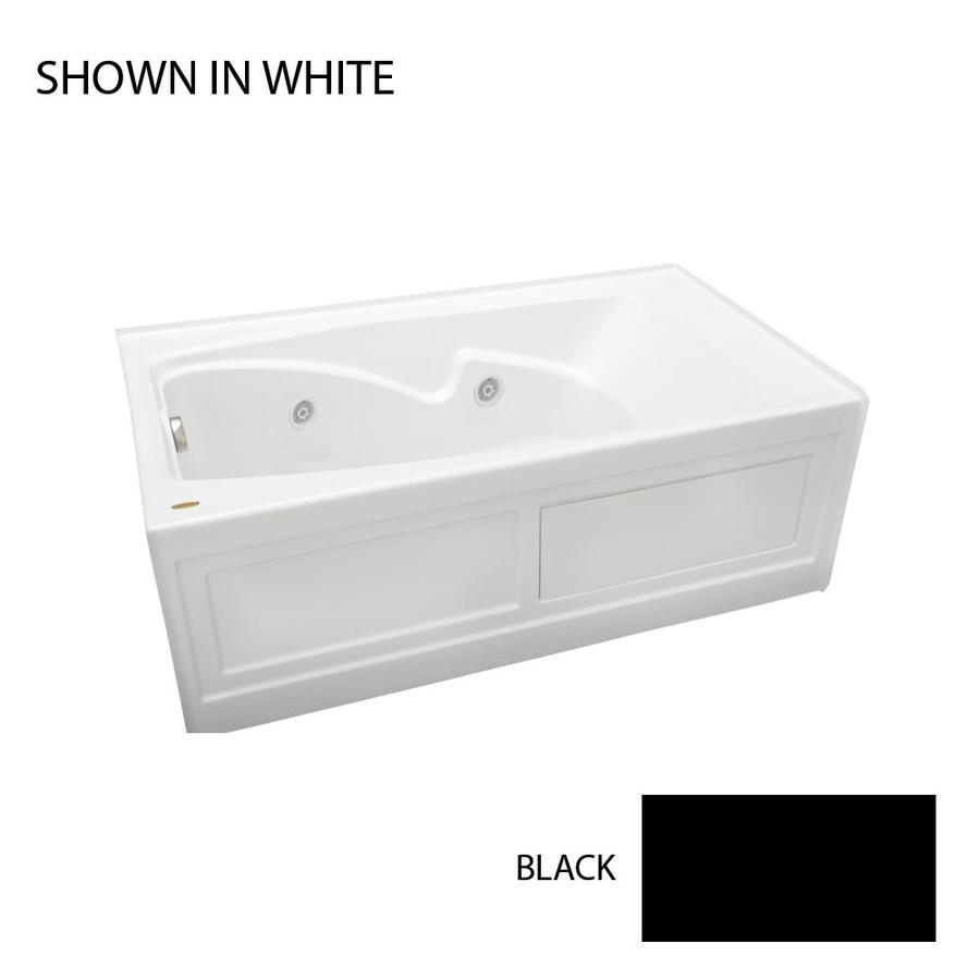 Jacuzzi Cetra 60-in Black Acrylic Alcove Whirlpool Tub with Left-Hand Drain