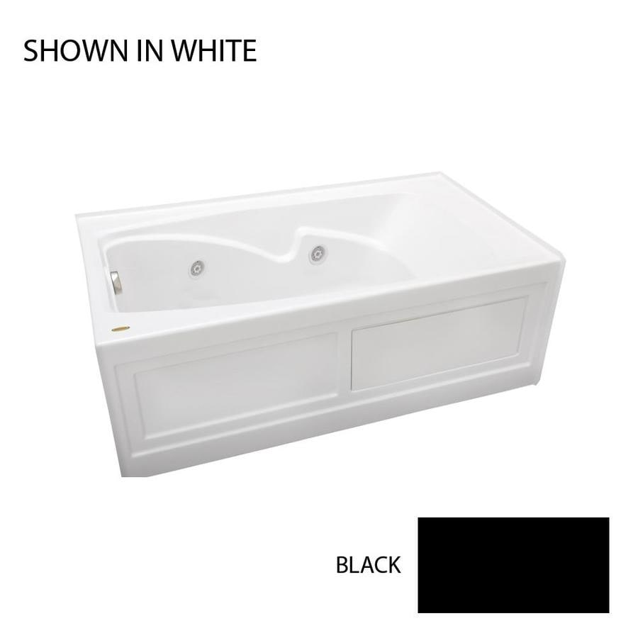 Jacuzzi Cetra 60-in Black Acrylic Alcove Whirlpool Tub with Right-Hand Drain
