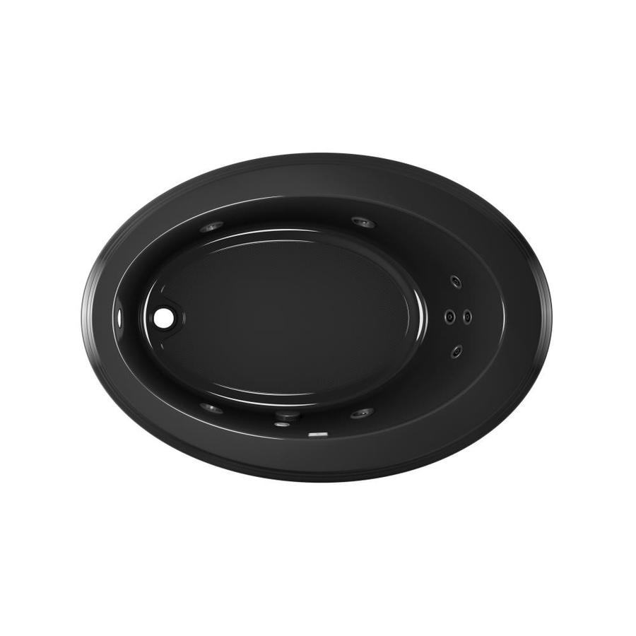 Jacuzzi Gallery 62-in Black Acrylic Drop-In Whirlpool Tub with Left-Hand Drain