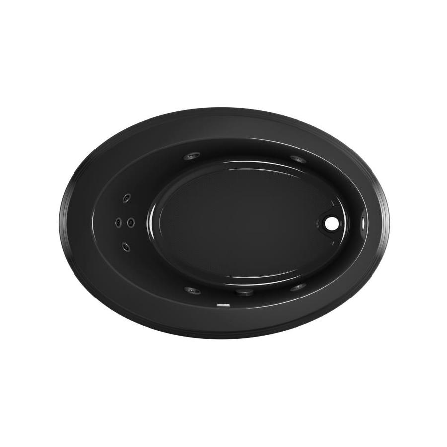 Jacuzzi Gallery 62-in Black Acrylic Drop-In Whirlpool Tub with Right-Hand Drain
