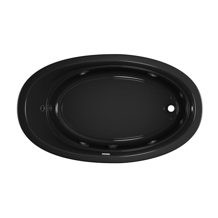 Jacuzzi Gallery 72-in Black Acrylic Drop-In Whirlpool Tub with Right-Hand Drain