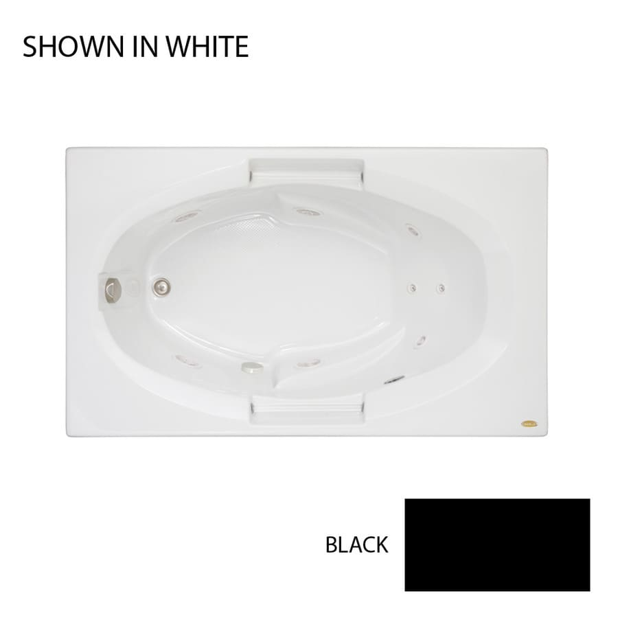 Jacuzzi Nova Black Acrylic Oval In Rectangle Whirlpool Tub (Common: 36-in x 60-in; Actual: 19.25-in x 36-in x 60-in)