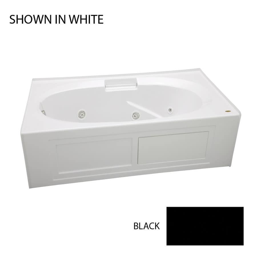 Jacuzzi Nova 60-in Black Acrylic Alcove Whirlpool Tub with Right-Hand Drain