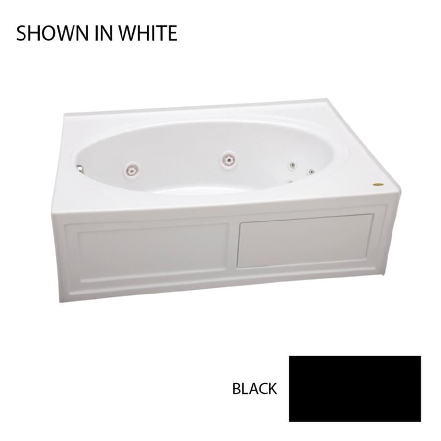 Jacuzzi Nova 60-in Black Acrylic Alcove Whirlpool Tub with Left-Hand Drain
