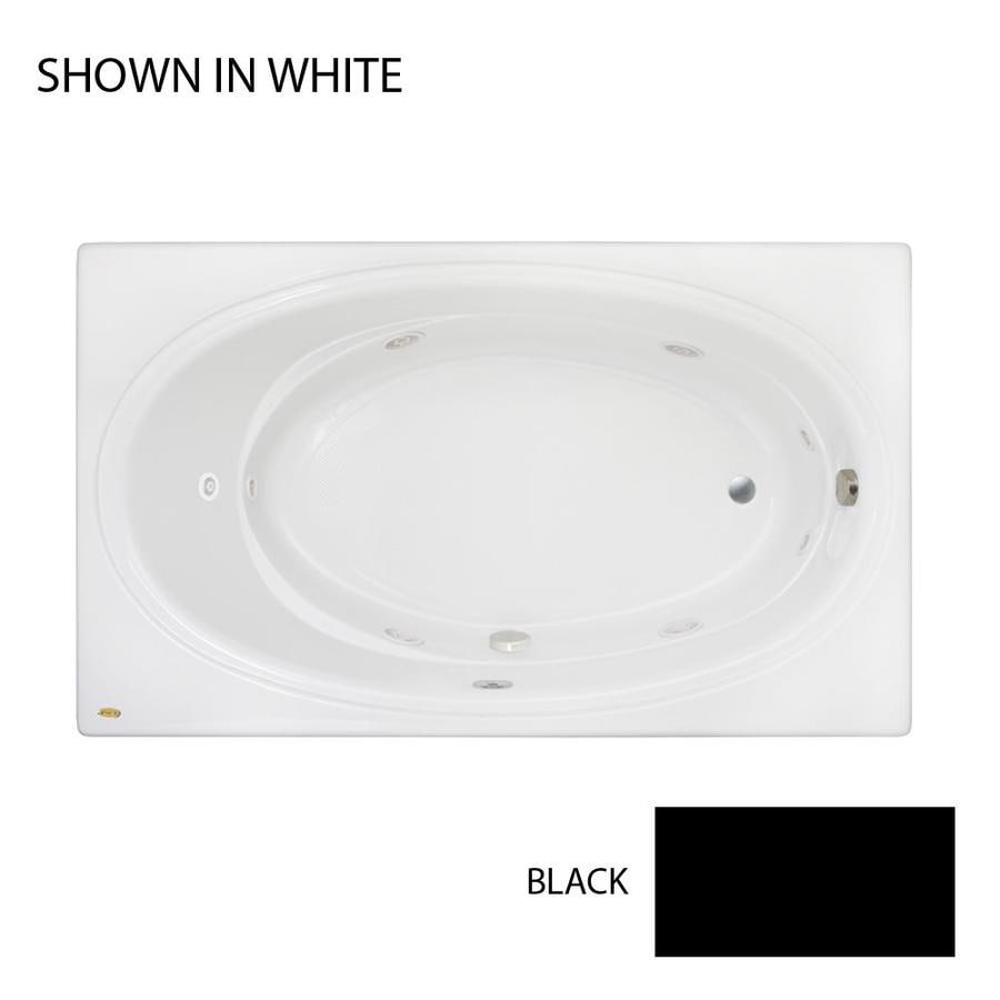 Jacuzzi Nova 72-in Black Acrylic Drop-In Whirlpool Tub with Left-Hand Drain