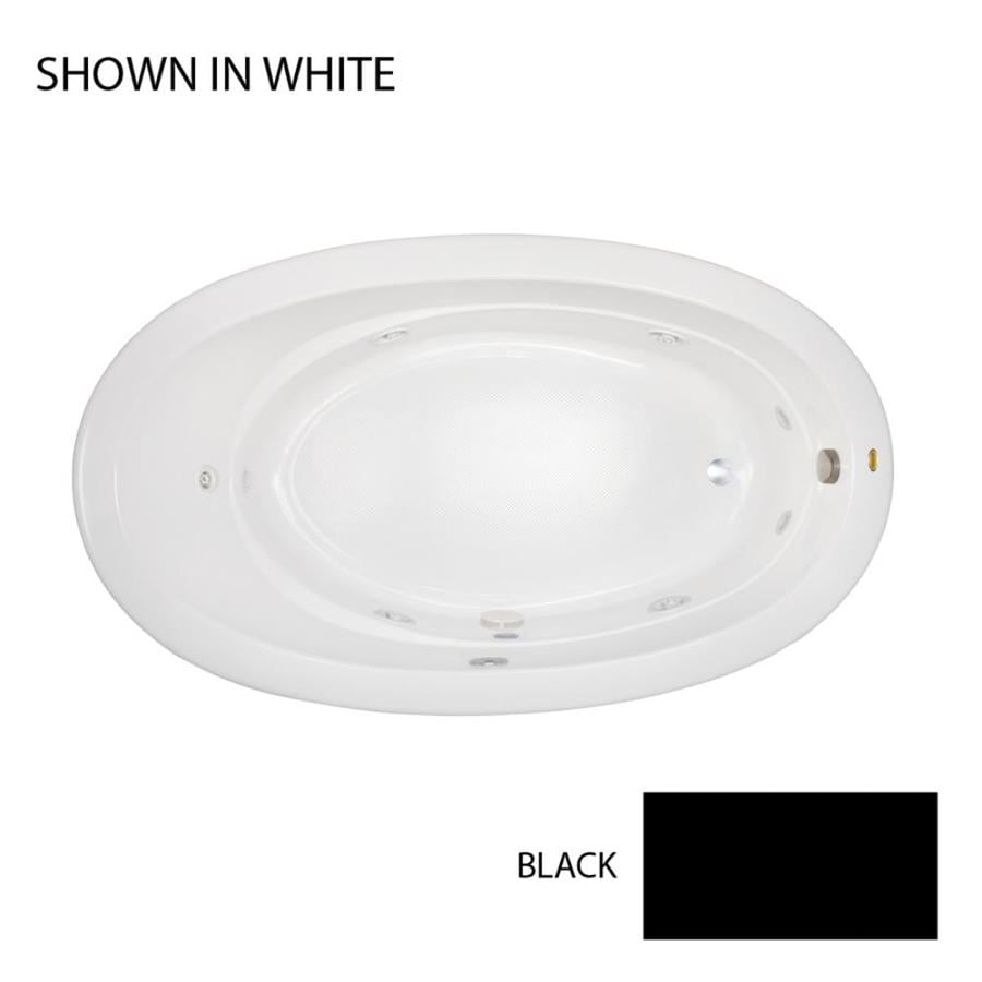 Jacuzzi Riva 72-in Black Acrylic Drop-In Whirlpool Tub with Left-Hand Drain