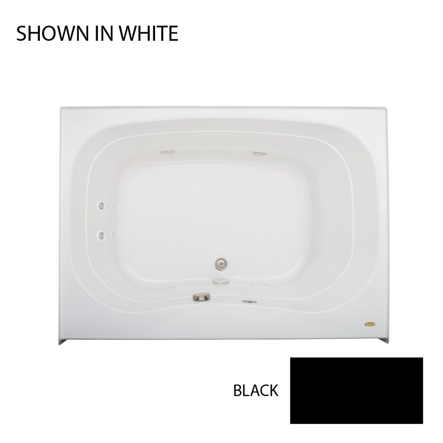 Jacuzzi Signa Black Acrylic Rectangular Whirlpool Tub (Common: 42-in x 60-in; Actual: 22-in x 42-in x 60-in)