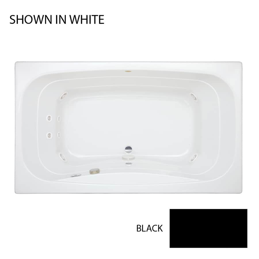 Jacuzzi Signa 72-in Black Acrylic Drop-In Whirlpool Tub with Center Drain